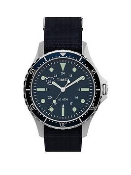 Timex Timex Timex Navi Xl Blue 41Mm Dial Blue Nato Strap Watch Picture