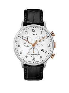 timex-timex-waterbury-white-with-silver-and-gold-detail-chronograph-dial-black-leather-strap-watch
