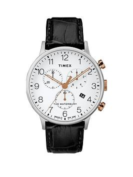 Timex Timex Timex Waterbury White With Silver And Gold Detail Chronograph  ... Picture