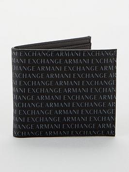 armani-exchange-all-over-logo-billfold-wallet-black