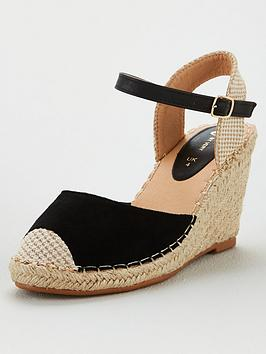V by Very V By Very Hallie Wide Fit Closed Toe Wedge - Black Picture