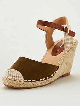 V by Very V By Very Hallie Wide Fit Closed Toe Wedge - Khaki Picture