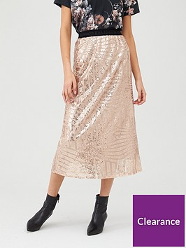 religion-sequin-skirt-nude