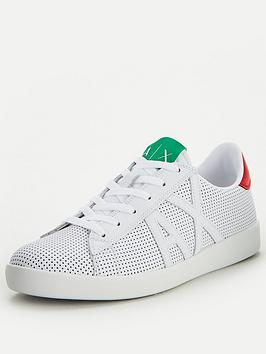 Armani Exchange Armani Exchange Flagship Leather Trainers - White Picture