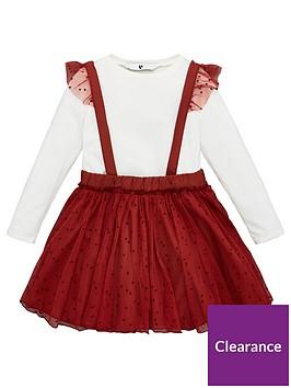 v-by-very-girls-2-piece-polka-dot-mesh-pinafore-skirt-and-long-sleeve-t-shirt-rust