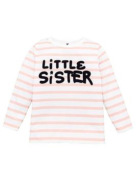 V by Very V By Very Girls Little Sister Striped Long Sleeve T-Shirt - Pink Picture