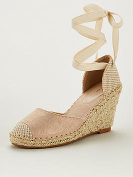 V by Very V By Very Bea Closed Toe Wedge - Gold Picture