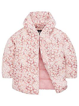 V by Very V By Very Girls Longline Animal Wrap Coat - Multi Picture