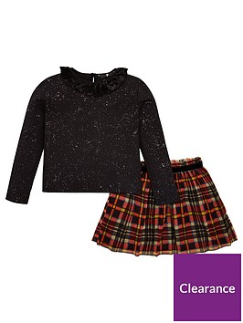 v-by-very-girls-2-piece-check-skirt-and-jersey-metallic-top-set-multi
