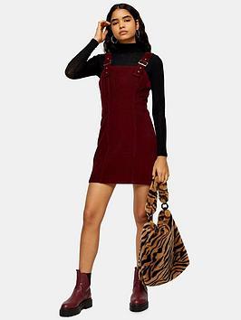 topshop-buckle-cord-bodycon-dress-burgundy