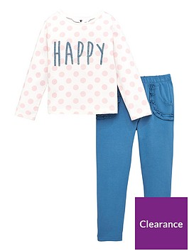 v-by-very-girls-2-piece-polka-dot-happy-sweatshirt-and-ruffle-joggers-set-navy