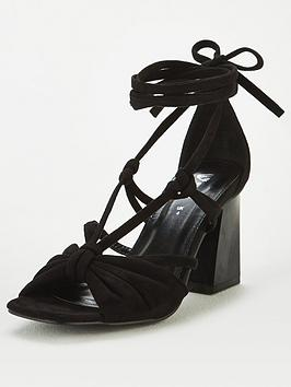 V by Very V By Very Bret Wide Fit Strappy Tie Leg Sandal - Black Picture