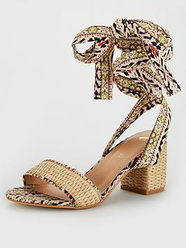 V by Very V By Very Bree Wide Fit Tie Leg Sandal - Print Picture