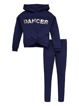 V by Very V By Very Girls 2 Piece Sequin Dancer Legging And Sweat Hoodie  ... Picture