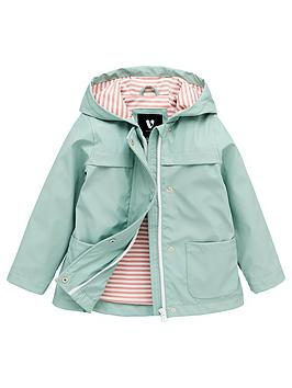 V by Very V By Very Girls Jersey Lined Rubber Mac - Green Picture