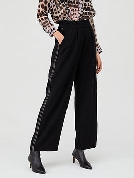 religion-journey-stud-seam-trouser-black