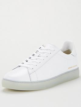 Armani Exchange Armani Exchange Classic Clean Leather Trainers - White Picture