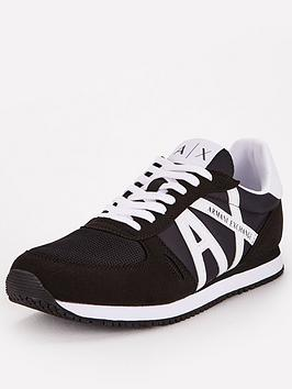 Armani Exchange Armani Exchange Retro Runner Trainers - Black Picture