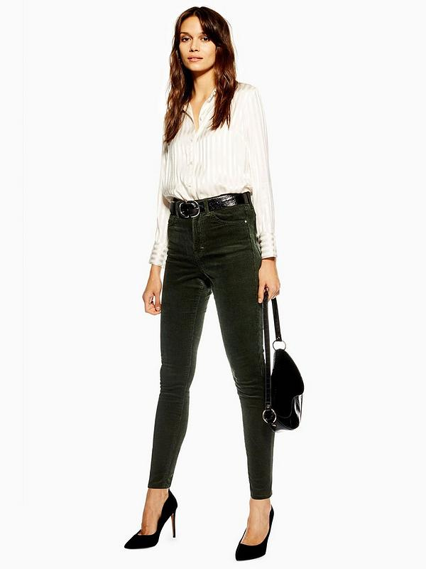 cheap sale cheapest price great look Topshop Cord Jamie Jeans 32' - Green | littlewoods.com