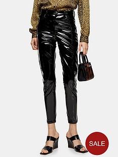 topshop-vinyl-jamie-jeans-black