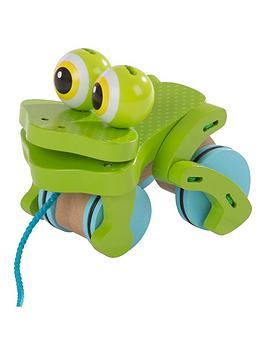 Melissa & Doug Melissa & Doug First Play Frolicking Frog Pull Toy Picture