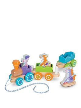 Melissa & Doug Melissa & Doug First Play Rocking Pull Train Picture