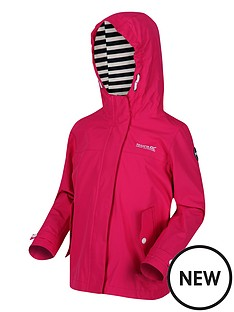 regatta-girls-bibiana-striped-lined-hooded-jacket-pink