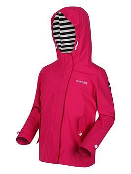Regatta Regatta Girls Bibiana Striped Lined Hooded Jacket - Pink Picture