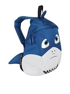 regatta-little-adventurers-shark-backpack-blue