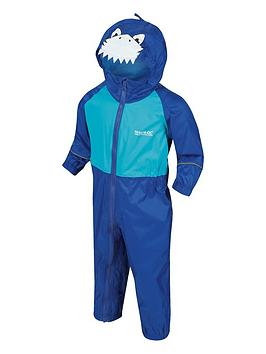 Regatta Regatta Boys Little Adventurers Charco Shark Splash Suit - Blue Picture