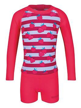 Regatta Regatta Little Adventurers Strawberry Valo Rash Swim Set - Pink Picture