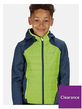 regatta-boys-keilder-hybrid-iii-hooded-jacket-navygreen