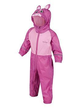 Regatta Regatta Girls Little Adventurers Charco Unicorn Splash Suit - Pink Picture