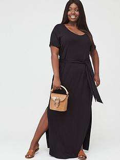 v-by-very-curve-maxi-t-shirt-dress-black