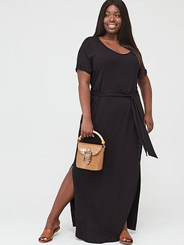 V by Very Curve V By Very Curve Maxi T-Shirt Dress - Black Picture