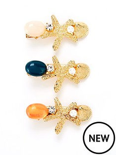 v-by-very-three-pack-shell-and-bead-hair-clips-gold