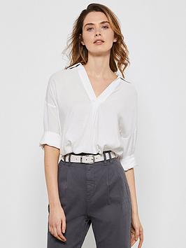 Mint Velvet Mint Velvet Throw On Shirt - White Picture