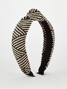 v-by-very-raffia-knot-hair-band-black