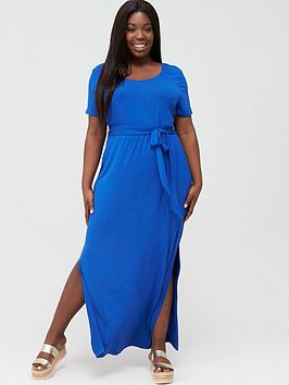 V by Very Curve V By Very Curve Maxi T-Shirt Dress - Electric Blue Picture