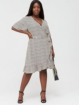 V by Very Curve V By Very Curve Printed Jersey Tea Dress Picture