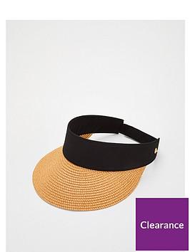 v-by-very-straw-visor-natural