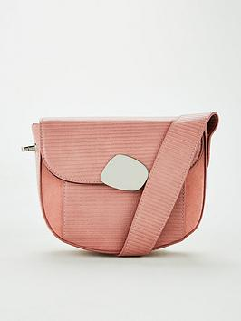 V by Very V By Very Peoney Eyelet Strap Saddle Bag - Pink Picture