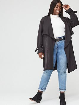 V by Very Curve V By Very Curve Waterfall Duster - Black Picture