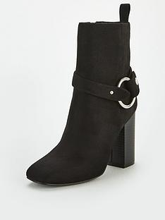 v-by-very-francesca-square-toe-block-heel-detachable-trim-boots-black