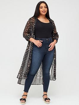 V by Very Curve V By Very Curve Maxi Longline Blouse - Print Picture