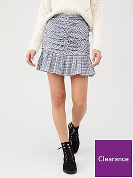 v-by-very-ruched-front-mini-skirt-bluecheck