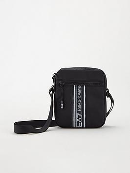 Ea7 Emporio Armani Tape Logo Pouch Cross Body Bag - Black