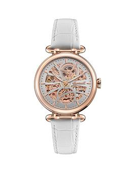 Ingersoll Ingersoll Ingersoll Star Silver And Rose Gold Detail Skeleton  ... Picture