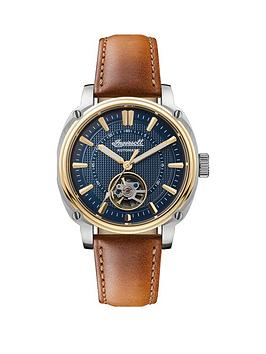 Ingersoll Ingersoll Ingersoll Director Blue And Gold Detail Skeleton Eye  ... Picture
