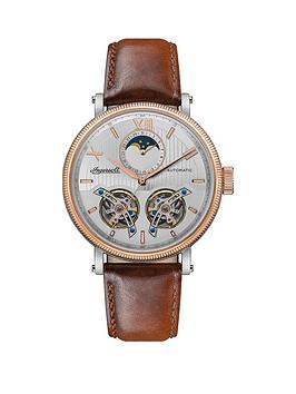 Ingersoll Ingersoll Ingersoll Hollywood Silver And Rose Gold Moonphase  ... Picture
